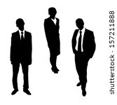 business people silhouettes | Shutterstock .eps vector #157211888