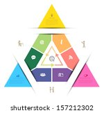 vector triangle template for... | Shutterstock .eps vector #157212302