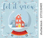 christmas vector greeting card...   Shutterstock .eps vector #1572133405
