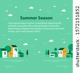 summer season in small town ... | Shutterstock .eps vector #1572151852
