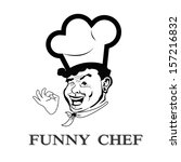funny face chef.portrait cook... | Shutterstock .eps vector #157216832