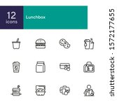 lunch line icon set. morning...   Shutterstock .eps vector #1572177655