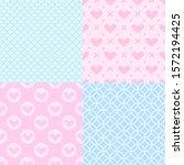valentine's day patterns. set... | Shutterstock .eps vector #1572194425