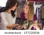 two beautiful young girls... | Shutterstock . vector #157220036