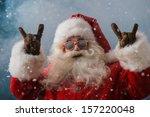 santa claus wearing sunglasses...   Shutterstock . vector #157220048