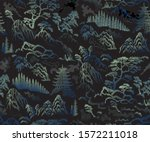 vector seamless pattern of hand ... | Shutterstock .eps vector #1572211018