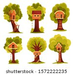 Set Of Tree House. Children...