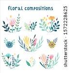 set of vector floral... | Shutterstock .eps vector #1572228625