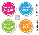 vector special offer colorful... | Shutterstock .eps vector #157226522
