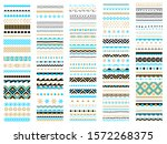 borders  ribbons  brushes set.... | Shutterstock .eps vector #1572268375