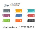 delivery infographic 10 option...
