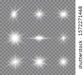 white glowing light explodes on ... | Shutterstock .eps vector #1572271468