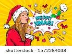 Pop Art Wow Christmas Girl....