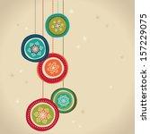 christmas card | Shutterstock .eps vector #157229075