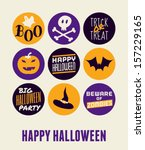 halloween greeting card design. | Shutterstock .eps vector #157229165