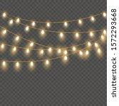christmas lights isolated on... | Shutterstock .eps vector #1572293668