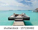 happy young romantic couple in... | Shutterstock . vector #157230482