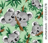 koala cute baby seamless repeat ... | Shutterstock .eps vector #1572314278