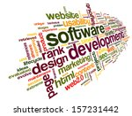 software development concept in ...   Shutterstock . vector #157231442