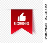 recommended tag isolated.... | Shutterstock .eps vector #1572316555