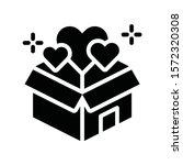 black friday related gift box... | Shutterstock .eps vector #1572320308