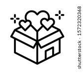 black friday related gift box... | Shutterstock .eps vector #1572320368