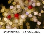 gold and red christmas light... | Shutterstock . vector #1572326032