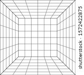 3d wireframe of grid. retrowave ... | Shutterstock .eps vector #1572422875