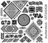 set of ornamental indian... | Shutterstock .eps vector #157242428