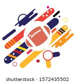 football is a sport that has a... | Shutterstock .eps vector #1572435502