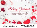 merry christmas and happy new... | Shutterstock . vector #1572440605