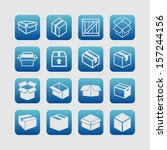 packaging icons | Shutterstock .eps vector #157244156