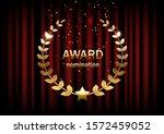 golden award sign with laurel... | Shutterstock .eps vector #1572459052