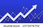 abstract financial chart with... | Shutterstock .eps vector #1572476752