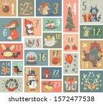 huge christmas advent calendar...   Shutterstock .eps vector #1572477538