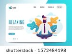 relaxing and stress relief at... | Shutterstock .eps vector #1572484198
