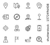 gps  route  maps  location icon ... | Shutterstock .eps vector #1572496408