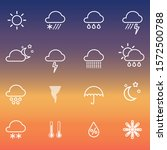 weather icons collection set...