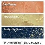 horizontal banner design with... | Shutterstock .eps vector #1572502252