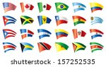 moving flags set   america. 24... | Shutterstock .eps vector #157252535