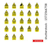 farm safety hazard signs icon... | Shutterstock .eps vector #1572566758