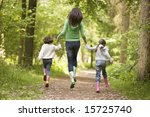 mother and daughters skipping... | Shutterstock . vector #15725740