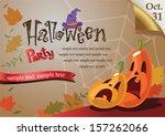 welcome to halloween party... | Shutterstock .eps vector #157262066