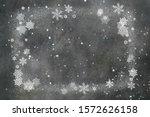 elegant vintage grey christmas... | Shutterstock . vector #1572626158