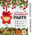 christmas party invitation...   Shutterstock .eps vector #1572654022