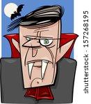 cartoon illustration of creepy... | Shutterstock . vector #157268195