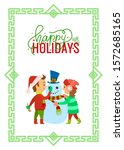 Happy Holidays Children Making...