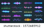 set of isolated audio equalizer ... | Shutterstock .eps vector #1572685912