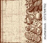 retro christmas background... | Shutterstock .eps vector #1572709702