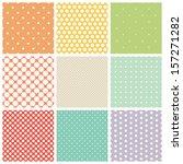 seamless dots patterns | Shutterstock .eps vector #157271282